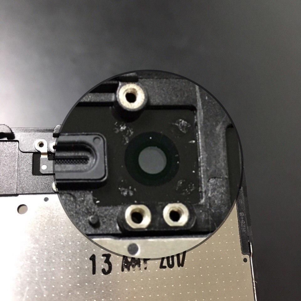 радужный ободок в области датчика света на оригинальном дисплее iPhone 7