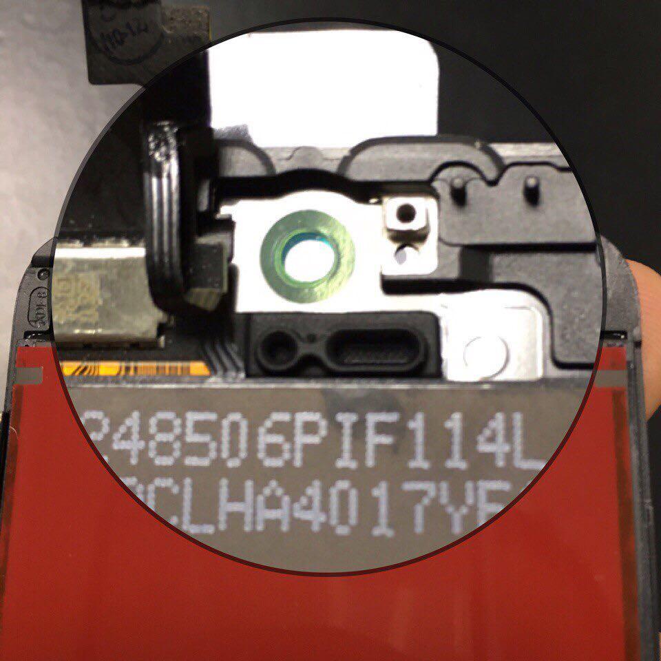 радужный ободок на оригинальном дисплее iPhone 5